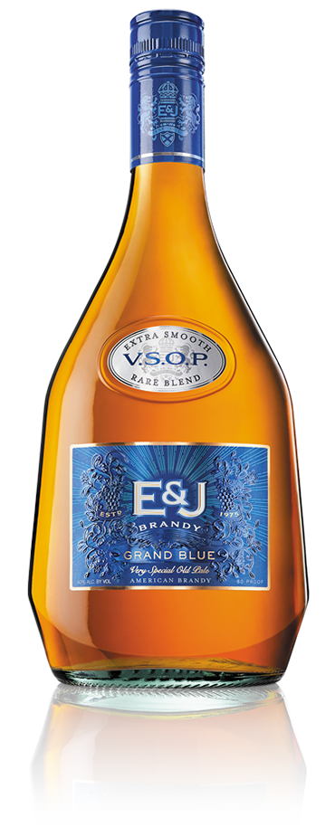 Bottle of E&J VSOP Grand Blue